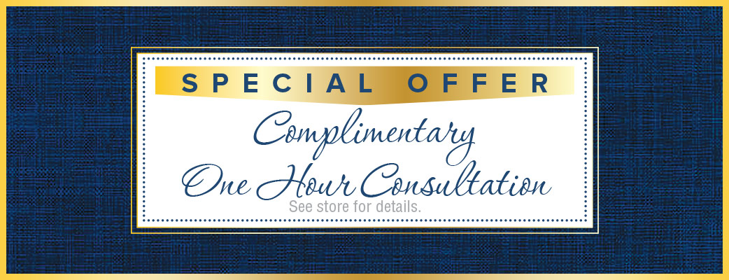 Special Offer - 1 hour of complimentary consultation - see store for details